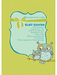 Personalized Owl Baby Shower Cards - Set of 12