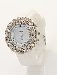 mode cdong montre en diamant grand cadran (blanc)