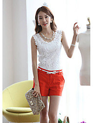 Xinying das Mulheres Lace Vest xq001