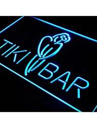 i331 Tiki Bar Parrot OUVERT affichage Neon Light Enregistrez-vous