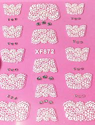 3D Rhinestone French Lace Nail Art Stickers XF Series NO.872