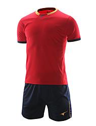 survêtements de football à manches courtes pour hommes (rouge et bleu marine / Espagne)