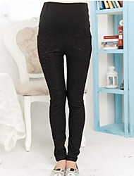 Maternity Skinny Pants,Lace / Cotton Blends Stretchy