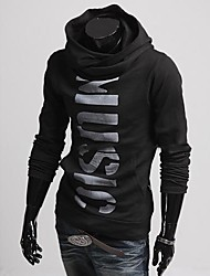 Lesen Men's Hoodie Personality Print Cardigan Cotton Hoodie O