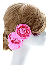 Women's / Flower Girl's Fabric Headpiece-Wedding / Special Occasion Flowers / Hair Pin