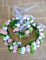 mode dubbele kleur bloemen krans sieraden set (inclusief hoofdband, armband)