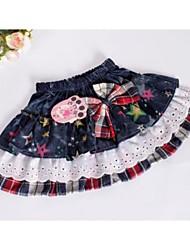 Moda de Nova Escócia Vestido Curto ESTRELA Padrão da menina Design Princesa Crianças Tartan Skirt