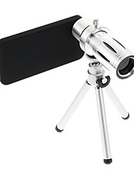 Увеличить 12X телефото Металл мобильного телефона объектива с треногой для IPhone 4S