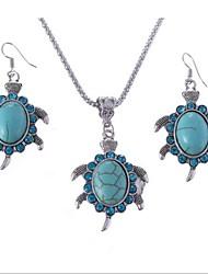 European Vintage Green Ceramic (Necklaces&Earrings) Gemstone Jewelry Sets