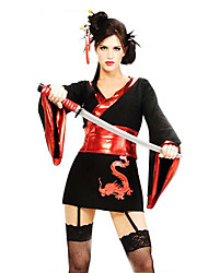 Costume Party Halloween Samurai Sexy Black Women Polyester