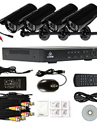 KARE 4CH CCTV DVR & 4* Audio-Supporting CMOS 30 LEDs Cameras Security Surveillance System