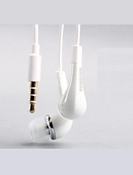 Quality Sound Ivory 3.5 mm In-ear Volume Control Earphone Headset for Samsung S2/S3/S4