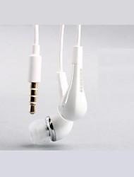 Qualité sonore d'Ivoire 3,5 mm Contrôle du volume d'écouteur pour Samsung S2/S3/S4 dans l'oreille