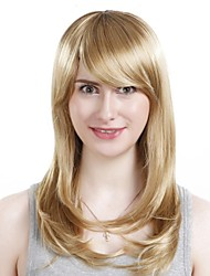 Capless Long High Quality Synthetic Wavy  Blonde Hair Wig