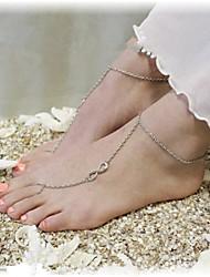 shixin® classique numéro 8 forme alliage sandales nu-pieds (or, argent, bronze) (1 pc)