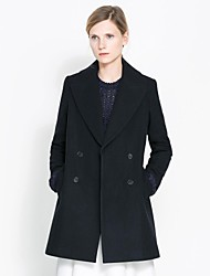Haoduoyi ™ misto lana doppio petto Cappotto invernale