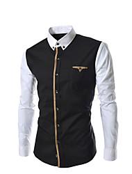 couleur blocage loisirs chemise de Hansun hommes