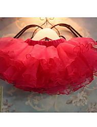 Verão malha Multilayer da garota fofa bolo plissado saia vestido de baile