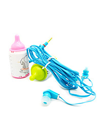Flat Cable 3.5mm In-Ear Earphone for Computer