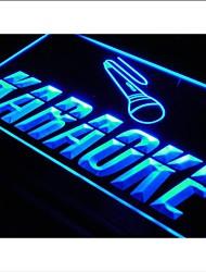 i099 OUVERT Karaoke Box Cafe Bar Pub Neon Light Enregistrez-vous