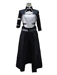Inspirado por Sword Art Online Kirito Anime Fantasias de Cosplay Ternos de Cosplay Patchwork Preto Meia-MangaCasaco / Colete / Peitoral /