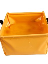 Laminated PVC Folding Basin - Orange + Grey (5 L)