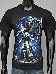 Heren Black Cotton Ghost Rider Nicolas Cage Gedrukte T-shirt