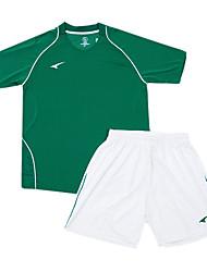 les maillots de football de l'enfant (vert et blanc)