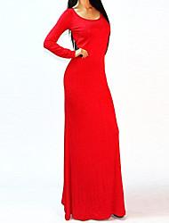 Backless sexy de Split Robe longue de DEFANIA femmes (Rouge)