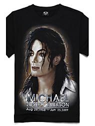 t-shirt a manica corta m-impero cotone 3d celebrità
