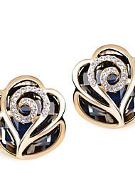 Mingluan Frauen Rose Form-Bolzen-Ohrringe