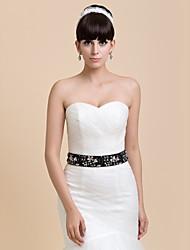 Chic mano de raso / encaje de la boda / vestido de noche con rebordear Belt (más colores)