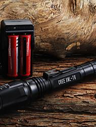 LED Taschenlampen / Hand Taschenlampen LED 400 Lumen 1 Modus Cree XR-E Q5 18650 / AA einstellbarer FokusCamping / Wandern / Erkundungen /