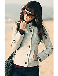 Women's Stand Collar Tweed Jackets