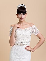 Wedding / Party/Evening Lace Coats/Jackets Short Sleeve Wedding  Wraps