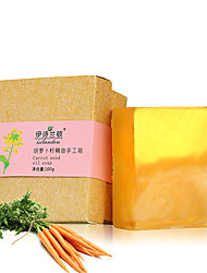 Isilandon Handmade Carrot Seed Essential Oil Soap Whitening Moisturizing Anti-Acne Anti-Inflammation 100g