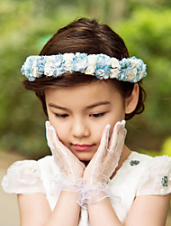 Women's Flower Girl's Satin Paper Headpiece-Wedding Special Occasion Outdoor Flowers