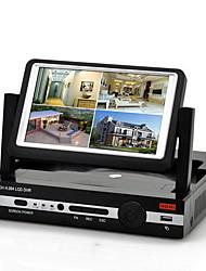Nuovo arrivo H.264 4 D1 canale di sistema DVR con 7 pollici LCD Screen Display