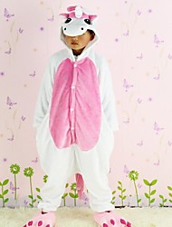 New Cosplay Pink Unicorn  Flannel Toilet version Children Kigurumi Pajama