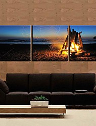Toiles Art Paysage Campfire Lot de 3