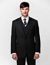 Costumes Coupe Sur-Mesure En Pointe Fin Droit 2 boutons 3 Pièces Noir Poche Plaquée Aucun (Plat) Aucun (Plat)
