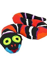 EasyCat Forêt Creative serpent de jouet de chien de chat w / BB Son Ball - rouge + noir + blanc