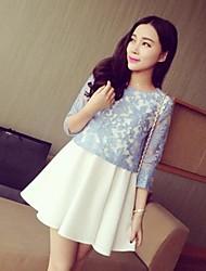 Women 's Dress Fashion dolce del merletto splicing due pezzi