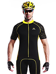 MYSENLAN Bike/Cycling Jersey / Tops Men's Short Sleeve Breathable / Quick Dry / Wearable / Windproof Cotton / 100% Polyester Yellow / Blue