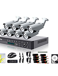 Liview® 8CH HDMI 960H Network DVR 700TVL Outdoor Day/Night Security Camera System 500GB Hard Drive