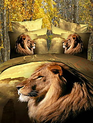 Letto guarnizioni 3D Dispersion Lions stampa Bedding Set