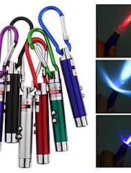 3 In 1 Laser Pointer LED Torch and UV Light (Random Colors)