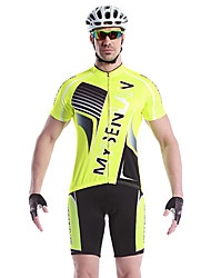 MYSENLAN Bike/Cycling Jersey + Shorts / Clothing Sets/Suits Men's Short Sleeve Breathable / Quick Dry / WearableSpandex / 100% Polyester