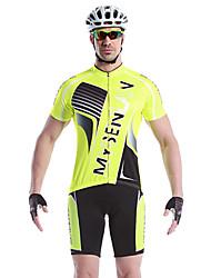 MYSENLAN Vélo/Cyclisme Maillot + Short/Maillot+Cuissard / Ensemble de Vêtements/Tenus Homme Manches courtesRespirable / Séchage rapide /