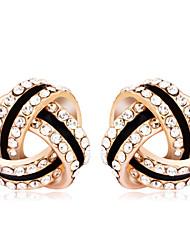 Mingluan Women's Elegant Diamond Stud Earrings